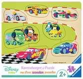 My first wooden puzzle 10 p - L équipe Disney Cars Puzzle;Puzzle enfant - Ravensburger