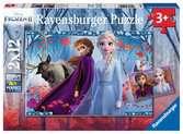 Puzzles 2x12 p - Voyage vers l inconnu / Disney La Reine des Neiges 2 Puzzle;Puzzle enfant - Ravensburger