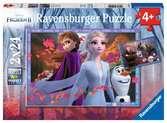 Puzzles 2x24 p - Vers des contrées glacées / Disney La Reine des Neiges 2 Puzzle;Puzzle enfant - Ravensburger