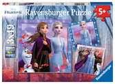 Puzzles 3x49 p - Le voyage commence / Disney La Reine des Neiges 2 Puzzle;Puzzle enfant - Ravensburger