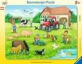 Letní den na statku 11 dílků 2D Puzzle;Dětské puzzle - Ravensburger