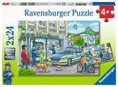 Onderweg met een politieagent Puzzels;Puzzels voor kinderen - Ravensburger