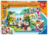 Puzzles 3x49 p - Emotions fortes en équipe / Top Wing Puzzle;Puzzle enfant - Ravensburger