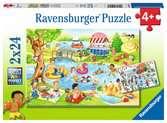 Swimming at the lake Puslespil;Puslespil for børn - Ravensburger