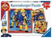 Puzzles 3x49 p - Notre héros Sam le pompier Puzzle;Puzzles enfants - Ravensburger