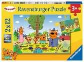 Puzzles 2x12 p - Journée nature en famille / Kid-E-Cats Puzzle;Puzzles enfants - Ravensburger