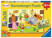 At home with Kid-e-Cats   2x24p Puslespil;Puslespil for børn - Ravensburger