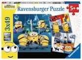 Mimoni 2 3x49 dílků 2D Puzzle;Dětské puzzle - Ravensburger