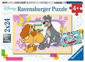 Disney s favorite puppies  2x24p Puslespil;Puslespil for børn - Ravensburger