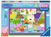 Peppa Pig My First Floor Puzzle, 16pc Shopping Puzzles;Children s Puzzles - Ravensburger
