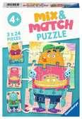 Monsters Mix & Match Puzzle Puslespil;Puslespil for børn - Ravensburger