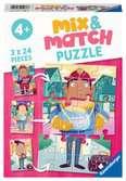 Mix & Match - De leukste beroepen Puzzels;Puzzels voor kinderen - Ravensburger