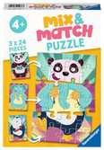 Mix and Match Musical Animals Puslespil;Puslespil for børn - Ravensburger