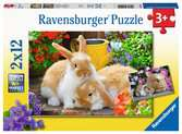Kleine Kuschelzeit        2x12p Puslespil;Puslespil for børn - Ravensburger