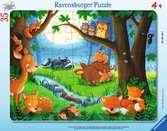 Puzzle cadre 30-48 p - Les petits animaux s endorment Puzzle;Puzzle enfant - Ravensburger