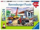 Bouwplaats en wedstrijd Puzzels;Puzzels voor kinderen - Ravensburger