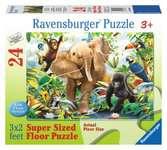 PRZYJACIELE Z DŻUNGLI PODŁ.24EL. Puzzle;Puzzle dla dzieci - Ravensburger