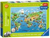 Endangered Animals Giant Floor Puzzle 60pc Puzzles;Children s Puzzles - Ravensburger