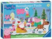 Peppa Pig Christmas Shaped Floor Puzzle, 32pc Puzzles;Children s Puzzles - Ravensburger