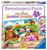Zvířata ze statku 12 plast. dílků 2D Puzzle;Dětské puzzle - Ravensburger