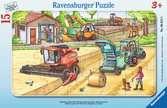 Maschinen auf dem Feld Puzzle;Kinderpuzzle - Ravensburger