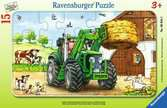 Puzzle cadre 15 p - Tracteur à la ferme Puzzle;Puzzle enfant - Ravensburger