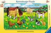 Bauernhoftiere auf der Wiese Puzzle;Kinderpuzzle - Ravensburger