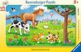 Puzzle cadre 15 p - Affectueux animaux Puzzle;Puzzle enfant - Ravensburger