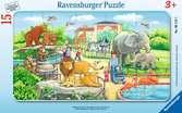 Puzzle cadre 15 p - Excursion au Zoo Puzzle;Puzzle enfant - Ravensburger