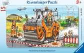 Arbeit mit der Straßenwalze Puzzle;Kinderpuzzle - Ravensburger