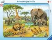 Africký svět zvířat 30 dílků 2D Puzzle;Dětské puzzle - Ravensburger