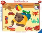 Puzzle cadre 30-48 p - Petit Ours Brun joue dans sa chambre Puzzle;Puzzle enfant - Ravensburger