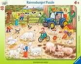 Puzzle cadre 30-48 p - A la ferme Puzzle;Puzzle enfant - Ravensburger