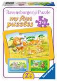 Aap, olifant en leeuw Puzzels;Puzzels voor kinderen - Ravensburger