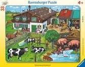 Rodiny zvířátek na farmě 33 dílků 2D Puzzle;Dětské puzzle - Ravensburger