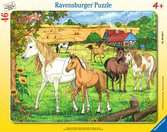 Puzzle cadre 30-48 p - Chevaux dans l enclos Puzzle;Puzzle enfant - Ravensburger