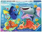 Finding Dory Four Shaped Puzzles Puzzles;Children s Puzzles - Ravensburger