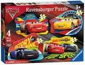 AUTA 3 PUZZLE PODŁOGOWE, 4W1 Puzzle;Puzzle dla dzieci - Ravensburger