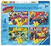 MICKEY RAŹNI RAJDOWCY 4 W 1 Puzzle;Puzzle dla dzieci - Ravensburger
