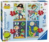 Rachel Ellen Boys 4 in Box Puzzles;Children s Puzzles - Ravensburger