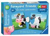 Farmyard Friends 9 x 2pc Puzzles;Children s Puzzles - Ravensburger