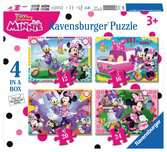 Puzzle 4 in 1 Minnie Mouse Puzzle;Puzzle per Bambini - Ravensburger