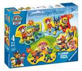 PSI PATROL PUZZLE WSZYSCY BOHATEROWIE 4W1 Puzzle;Puzzle dla dzieci - Ravensburger