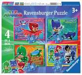 PJ Masks 4 in Box Puzzles;Children s Puzzles - Ravensburger