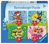 PAW PATROL 4W1 Puzzle;Puzzle dla dzieci - Ravensburger