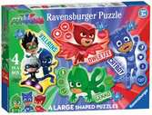 Pj Mask Puzzle Shaped 4 in a box - Puzzle per bambini Puzzle;Puzzle per Bambini - Ravensburger