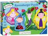Ben & Holly Four Large Shaped Puzzles Puzzles;Children s Puzzles - Ravensburger