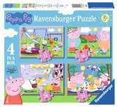 Ravensburger Peppa Pig 4 in a Box (12, 16, 20, 24pc) Jigsaw Puzzles Puzzles;Children s Puzzles - Ravensburger