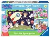 Ravensburger Peppa Pig 3 in Box (15, 20, 25pc) Jigsaw Puzzles Puzzles;Children s Puzzles - Ravensburger