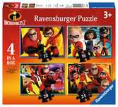 The Incredibles 2 4 in a Box Puzzles;Children s Puzzles - Ravensburger